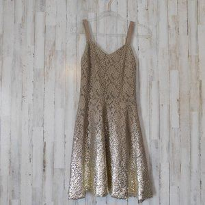 Free People Foil Ombre Lace Dress Sleeveless